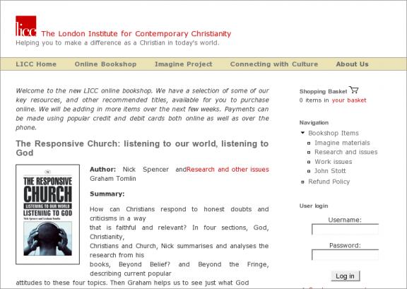 LICC - Online Bookshop