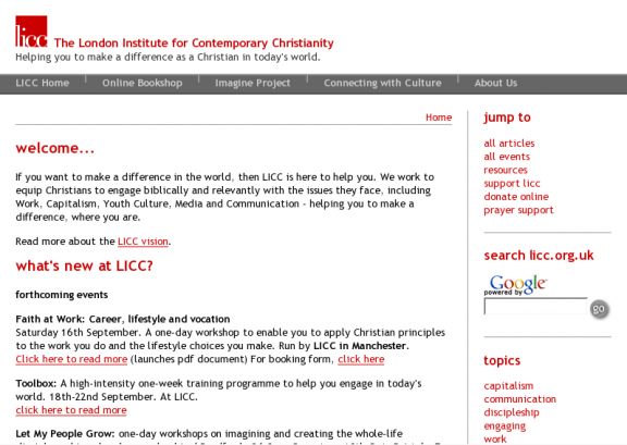 London Institute for Contemporary Christianity